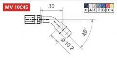 Фитинг LUCAS MV10C45T