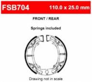 Колодки тормозные барабанные FERODO FSB704A