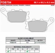 Колодки тормозные дисковіе Ferodo FDB754ST