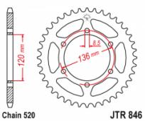 Звезда задняя JT Sprockets JTR846.43