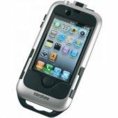 Футляр Interphone для IPhone4 с креплением для нетрубчатых рулей Silver