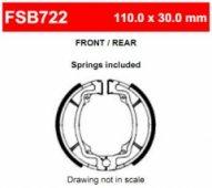 Колодки тормозные барабанные Ferodo FE FSB722
