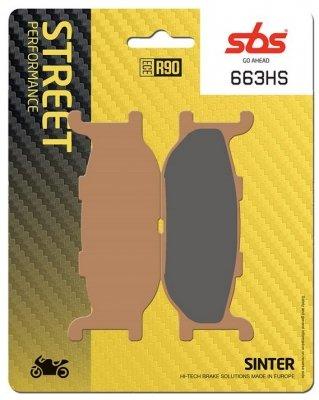 Колодки тормозные дисковые SBS 663HS