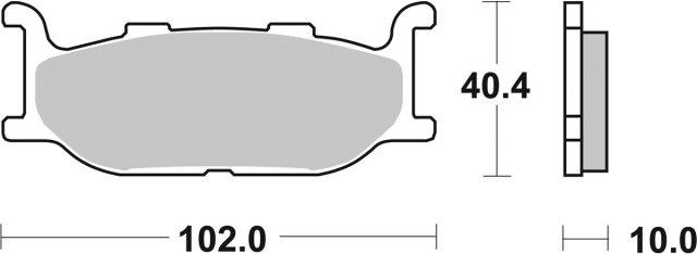 Колодки тормозные SBS 663HS