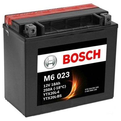 Аккумулятор мотоциклетный BOSCH 0092M60230 (YTX20L-BS) (18А*ч-250А)