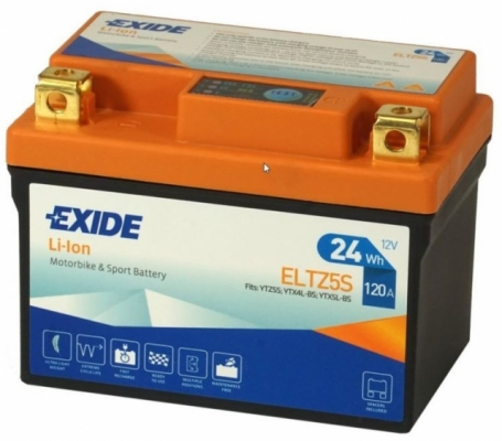 Аккумулятор мотоциклетный литий-ионный EXIDE ELTZ5S (2,0А*ч-120А) (YTZ5S, YTX4L-BS, YTX5L-BS)
