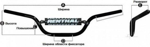 Руль Renthal Fatbar 671-01-BK Black