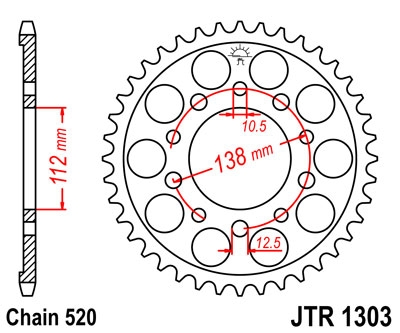 Звезда задняя JT Sprockets JTR1303.41