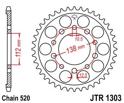Звезда задняя JT JTR1303.41