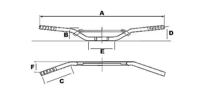 Руль кроссовый 22мм LUCAS MCL154C